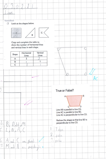 Drawing lines & shapes in Maths