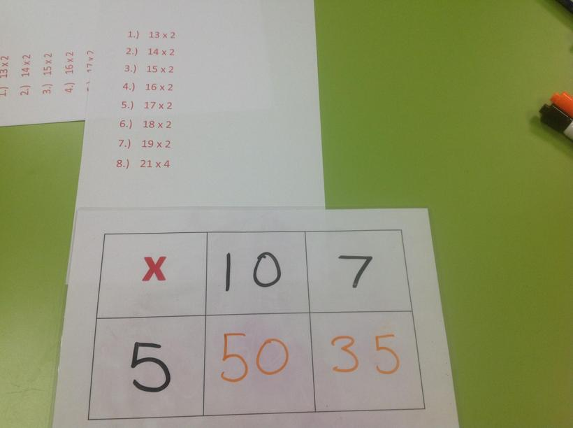 Using multiplication grids independently