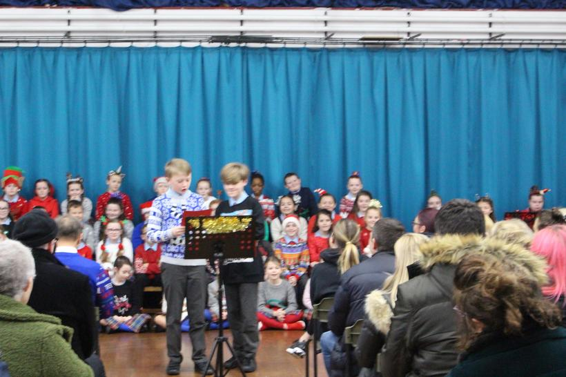 Presenting about Music in our school