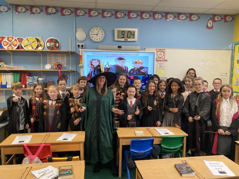 Class 9 on 'Harry Potter Day'
