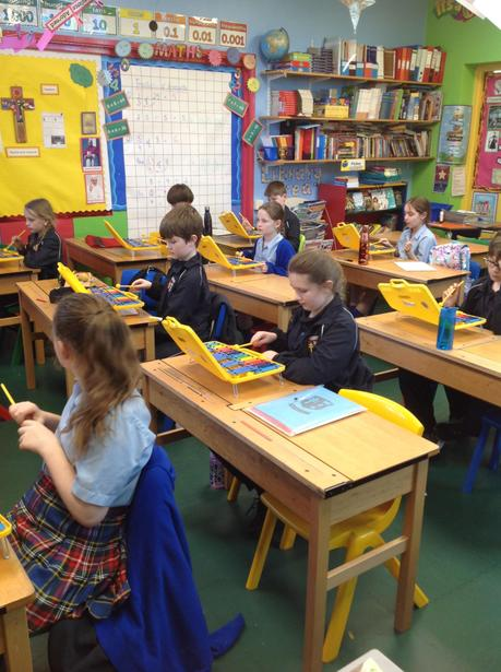 Learning to use the glockenspiels