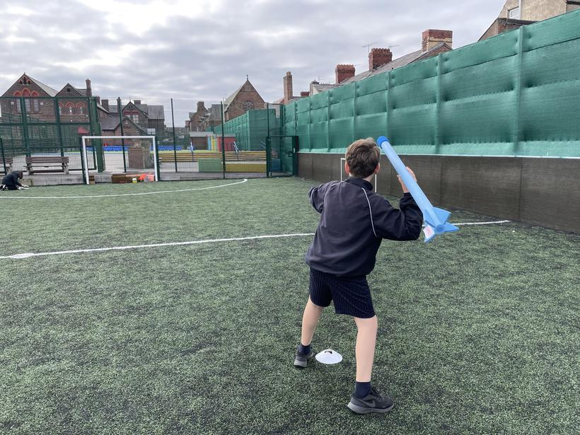 Working independently on our Javelin throws