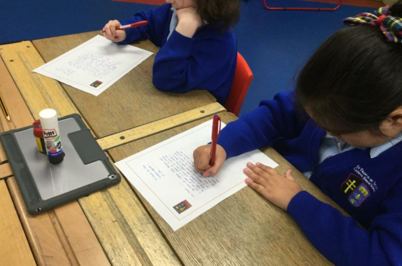 Our children busy writing