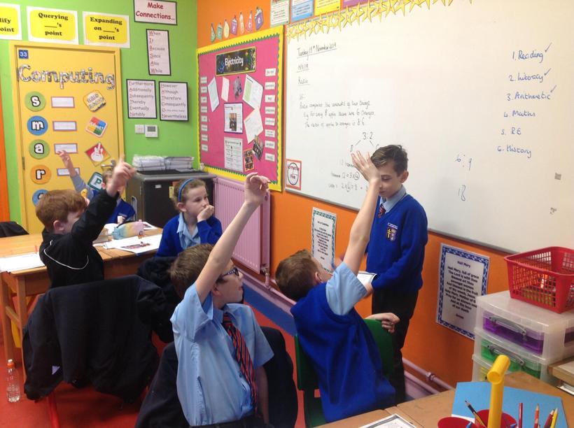 Explaining how to calculate ratio