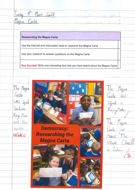 Discovering democracy and its relation to the Magna Carta