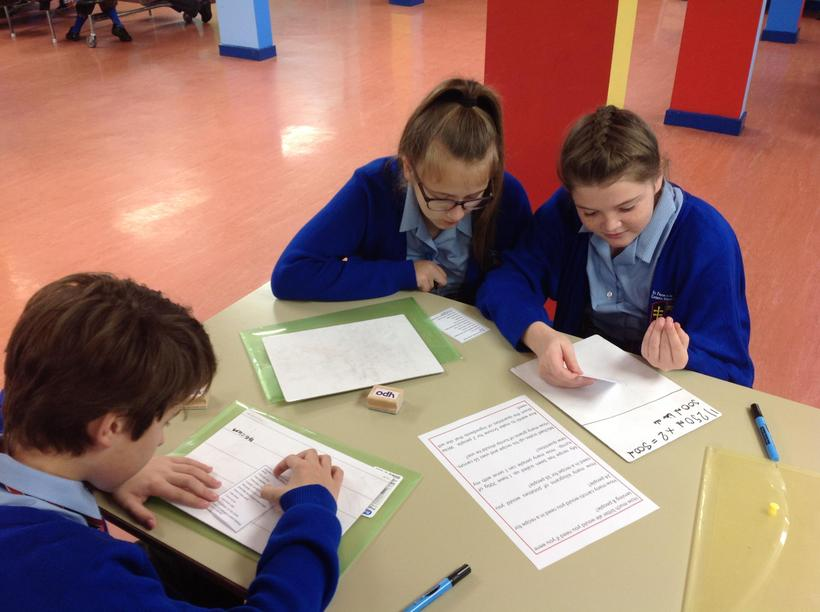 Scaling up and down using times tables knowledge