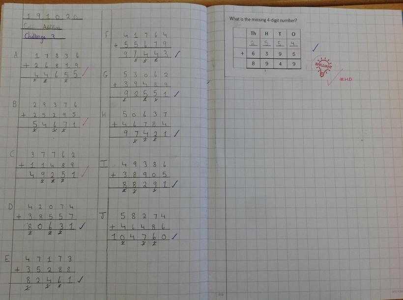 Using column addition