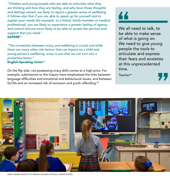 Our school featuring in the interim report