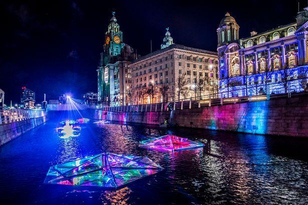 Festival of lights at the Pier Head