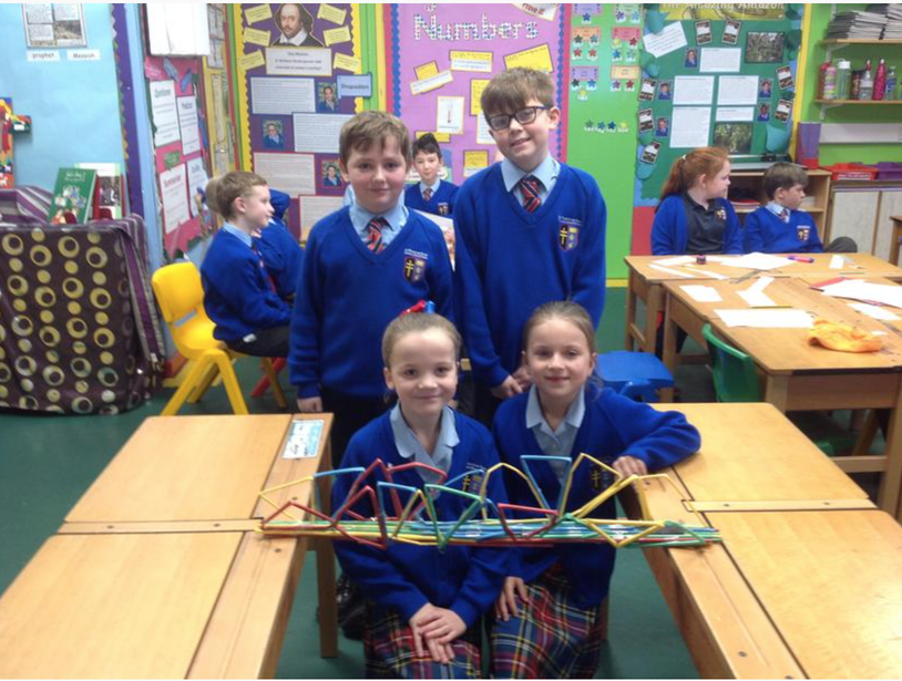 Our bridge needed to cross over a 100 cm gap