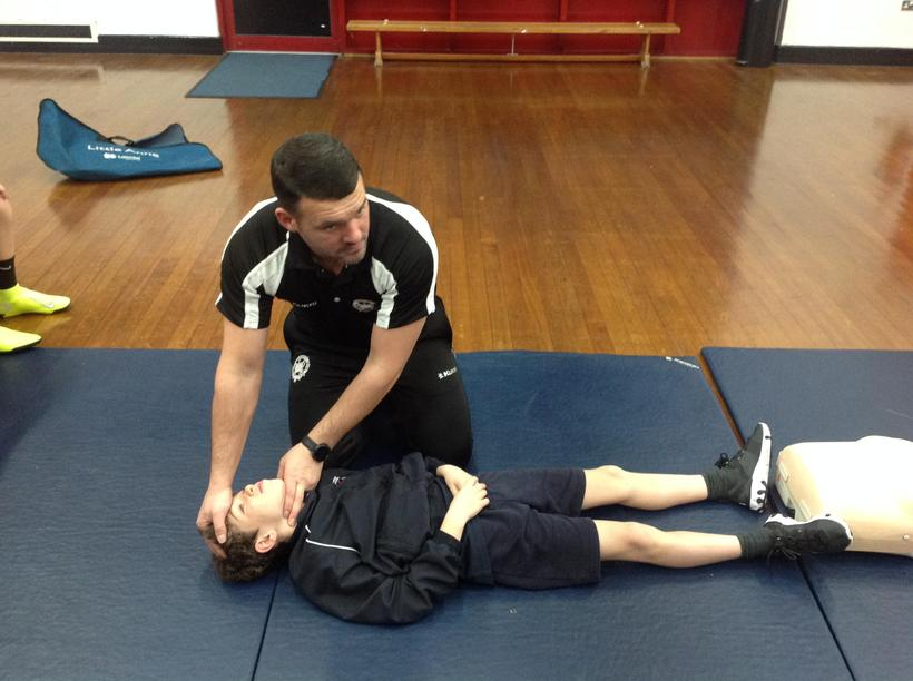 Opening the airway before performing CPR