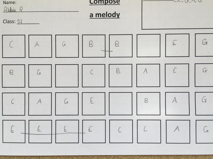 Composing and then explaining choices
