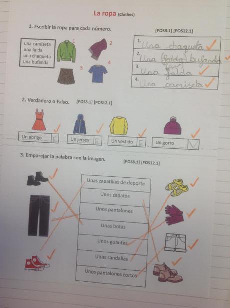 Written work on clothing