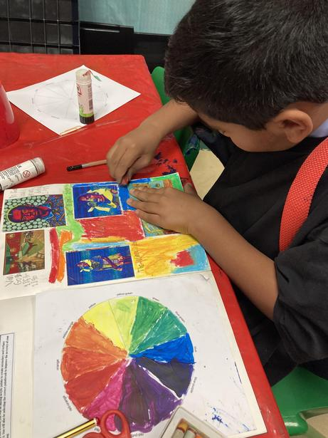 Working on Colour Theory: creating a colour wheel
