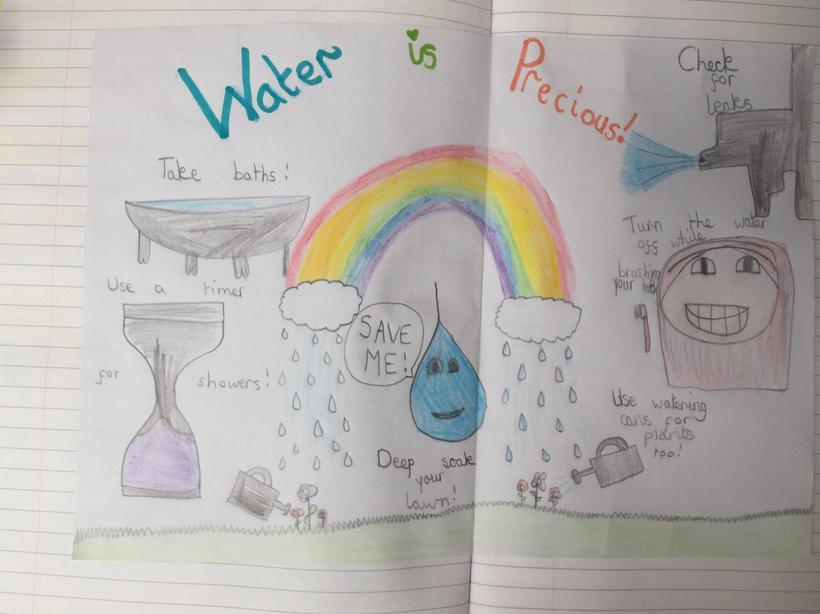 Sadie - Save Water Poster