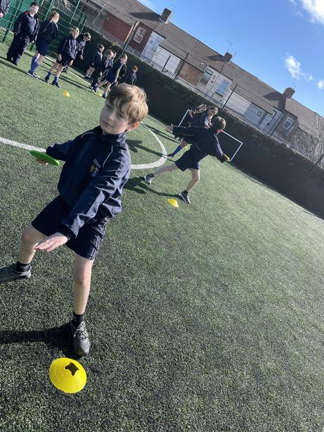 Working independently on our discus throws
