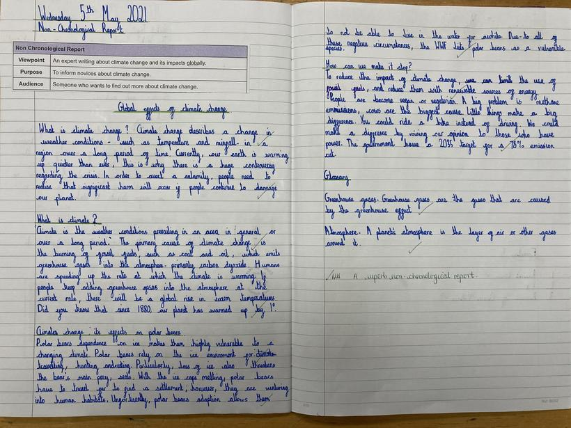 Non Chronological Report: Independent Write