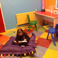 Calm time in the sensory room