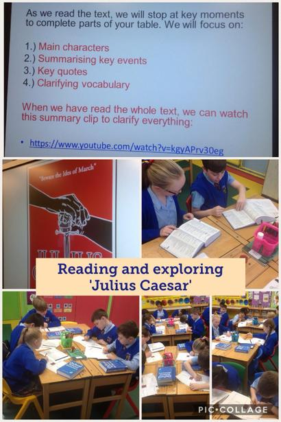 Reading and analysing 'Julius Caesar'