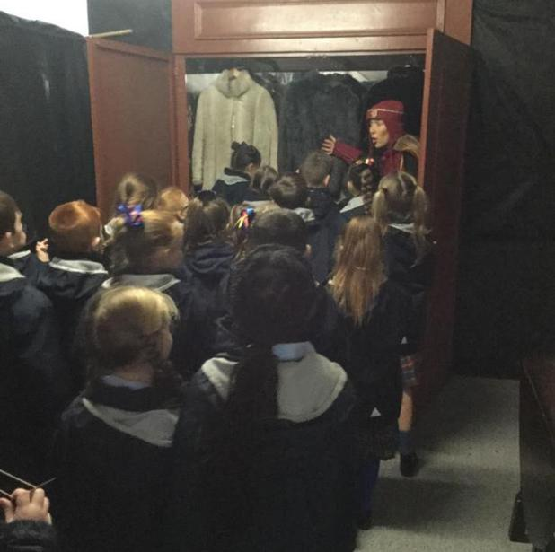 Through the wardrobe into Narnia!