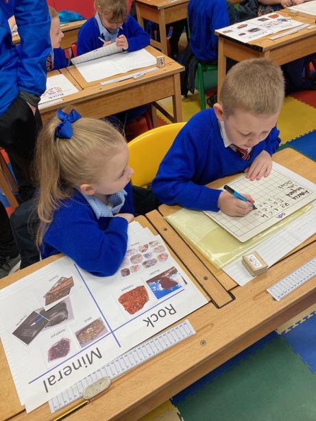 Sorting rocks and minerals using tables in Science