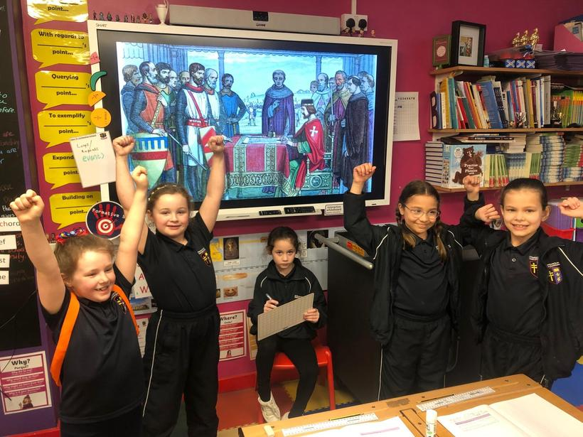 Role Play: The Barons celebrate the signing of the Magna Carta