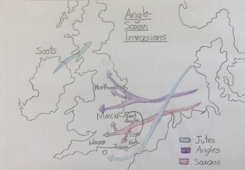 Anglo-Saxon invasion routes