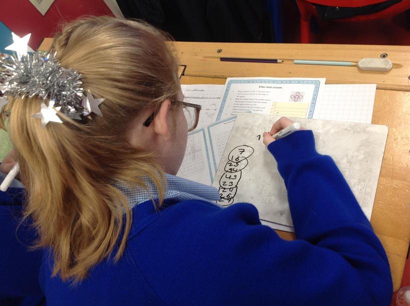 Investigating for formulae in a number grid