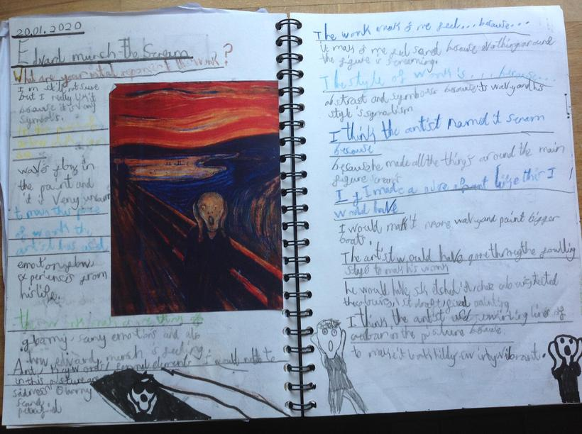 Learning about the great artist - Edvard Munch.