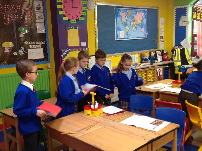 Practising our poem.