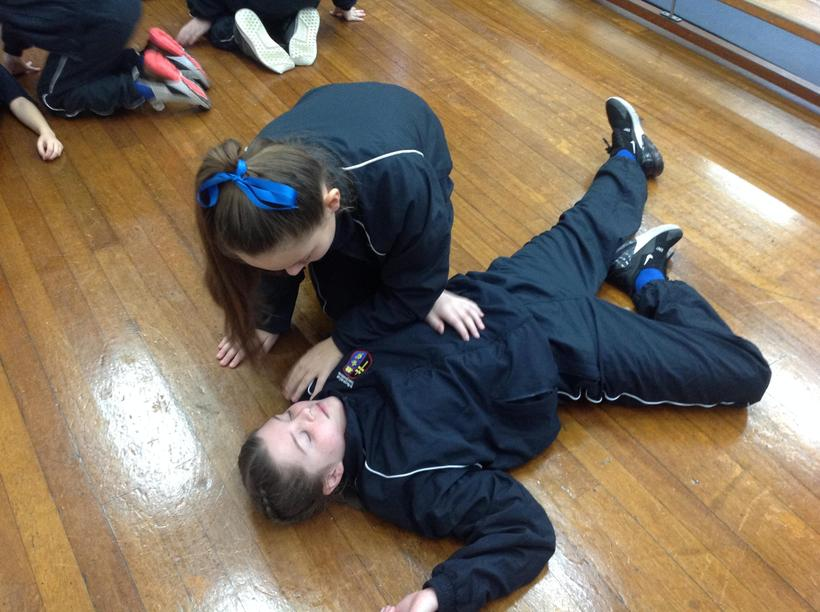 Role playing an injury - recovery position