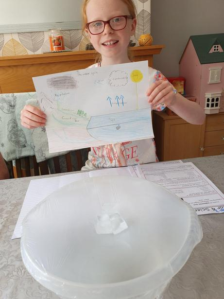 Isabelle created her own water cycle