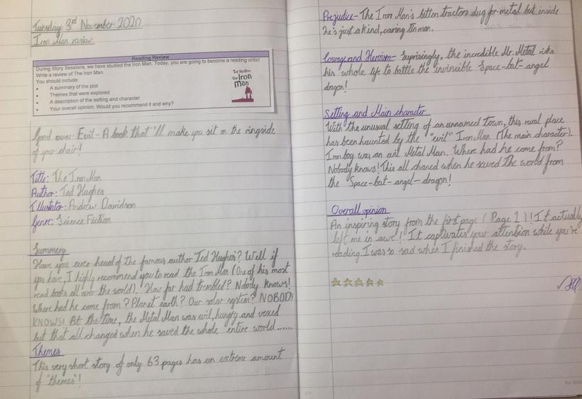 Book Review in our Reading Lesson