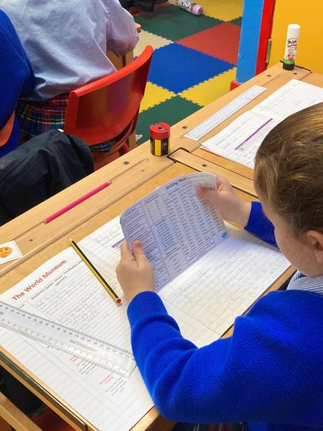 Adding Y3 Spelling words to our writing