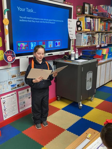 Delivering our persuasive speeches!