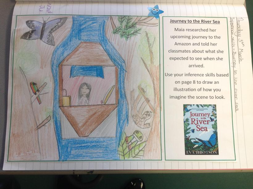 Using inference skills to bring a book scene to life