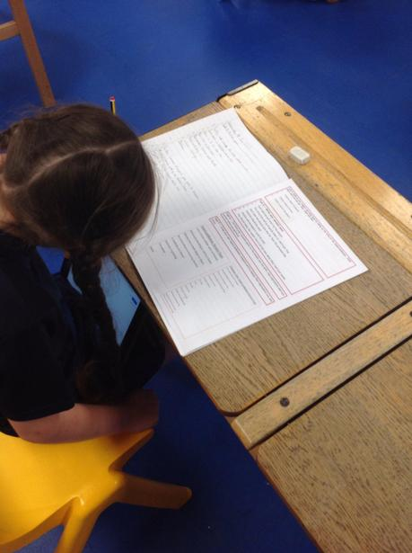 Writing Xeransis Poems in Bubbles 1&2 - well done!