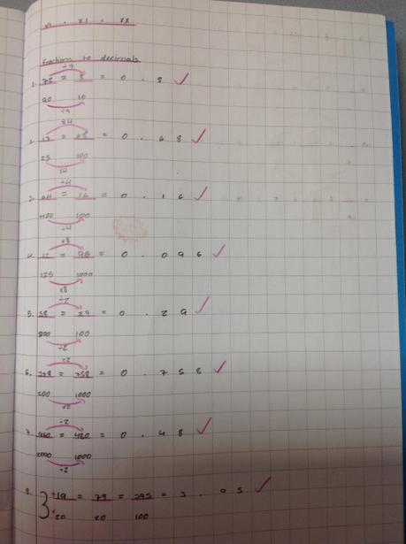 Learning how to convert between fractions and decimals