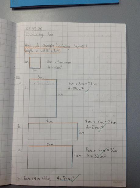 Calculating the area of rectangles
