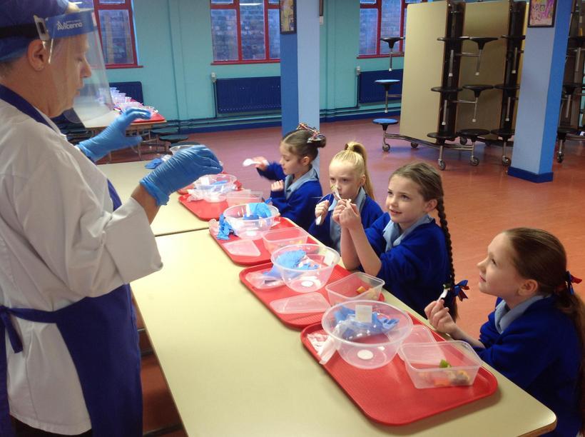 Learning food preparation skills