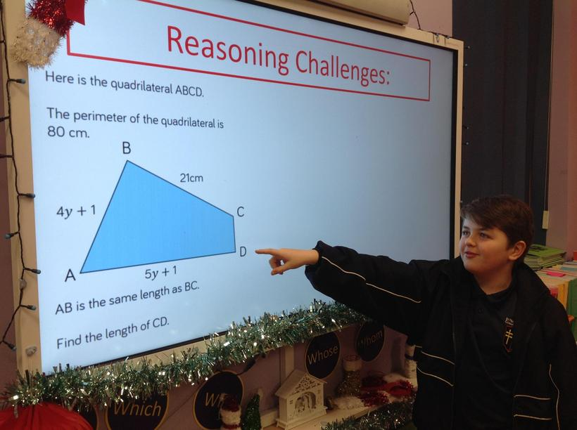 Explaining how to calculate missing lengths