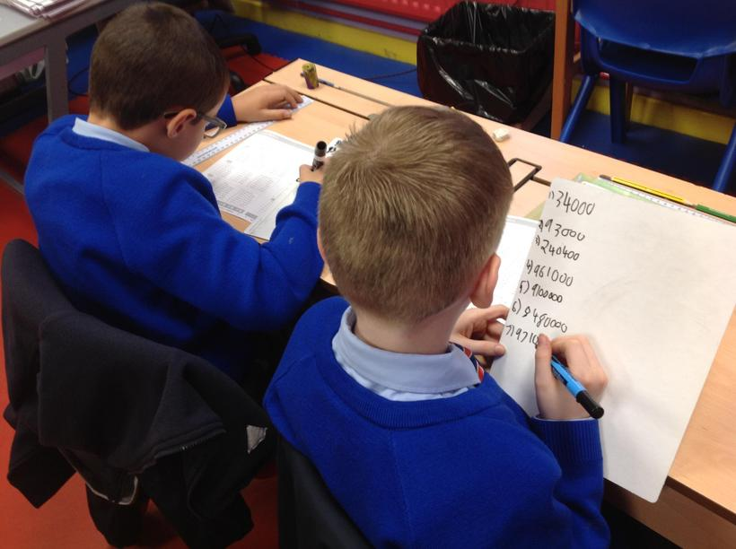 Practising our mental calculations