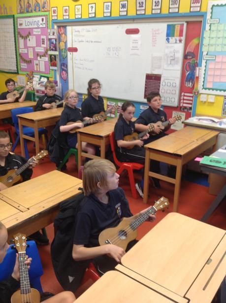 Learning chords on the ukulele