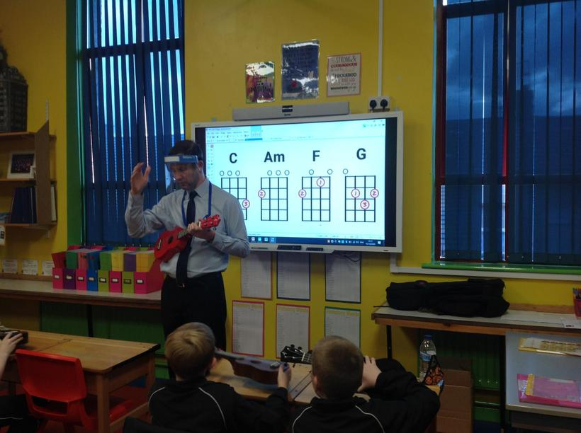 Learning how to read chord diagrams on the ukulele