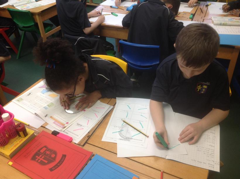 Using the protractors independently