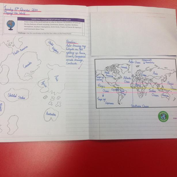 Map drawing using measurement in Geography