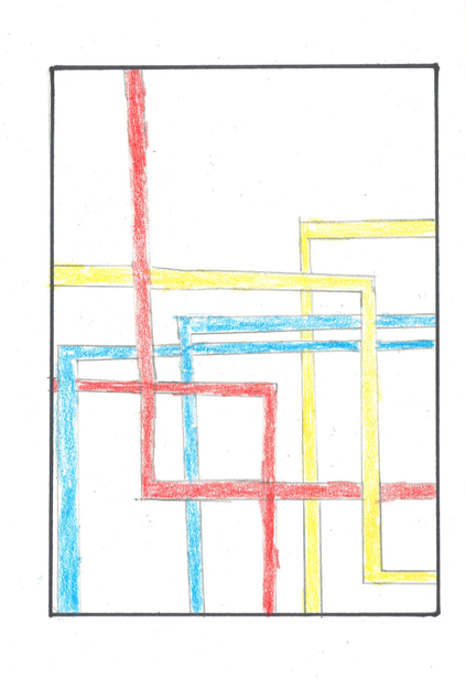 Using various types of lines in Art, inspired by Mondrian