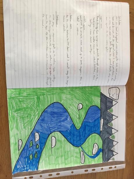 Lily's W excellent diagram of a river!
