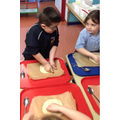 Year 3 - Kneading the pizza dough