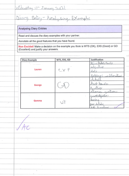 Analysing the effectiveness of multiple diary entries